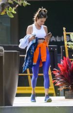 Alessandra Ambrosio Leaving her workout class in Malibu