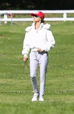 Alessandra Ambrosio Takes her pooch for a hike with a mystery man in Pacific Palisades