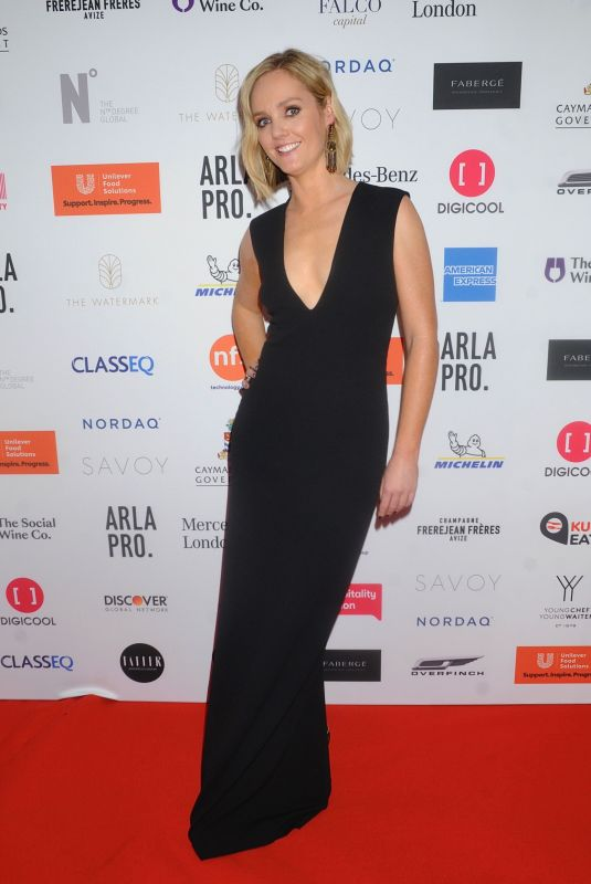 Amanda Davies At 3rd Annual Restaurant Association Gala Dinner, London