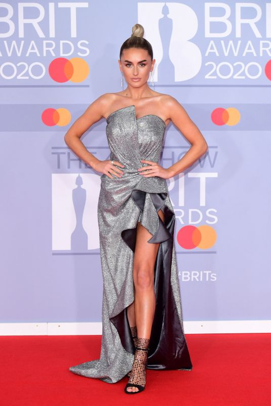 Amber Davies Arriving at the Brit Awards 2020 held at the O2 Arena, London