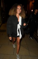 Amber Gill Leaving from Rosso Restaurant in Manchester