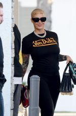 Amber Rose Is all smiles as she shows off her slimmer figure in Los Angeles