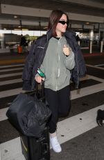 Amelia Gray Hamlin Is seen at LAX in Los Angeles