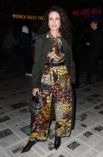 Andie MacDowell At Dior show, Front Row, Fall Winter 2020, Paris Fashion Week, France