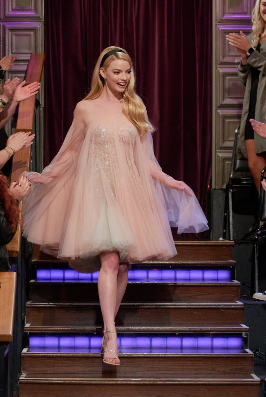 Anya Taylor-Joy At The Late Late Show with James Corden in LA