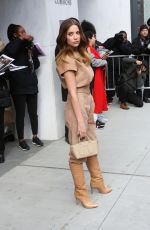 Ashley Benson Arriving at the Longchamp Fashion Show in NYC