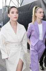 Ashley Benson & Cara Delevingne Arriving at the Boss Fashion Show in Milan