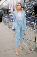 Ashley James Out during London Fashion Week