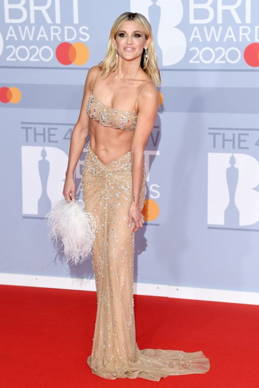 Ashley Roberts Arriving for the Brit Awards 2020 at the O2 Arena, London