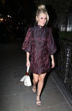 Ashley Roberts Heads out to dinner with friends at Sette restaurant in London
