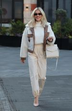 Ashley Roberts Looks stunning in cream coords as she exits Heart Radio - London