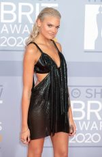 Becca Dudley At 40th Brit Awards, The O2 Arena, London