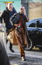 Bella Hadid Arrives for the Fendi Fashion Show in Milan, Italy