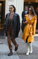 Bella Hadid & Emily Ratajkowski Arriving at Fondazione Prada Exhibition in Milan