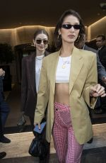 Bella Hadid Leaves her Hotel during Women