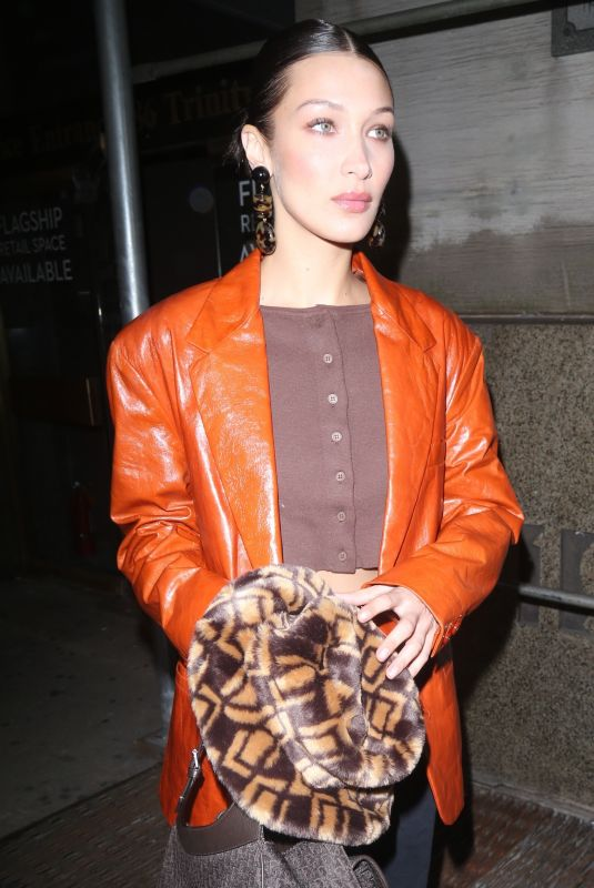 Bella Hadid Leaving the Michael Kors Fashion Show in NYC