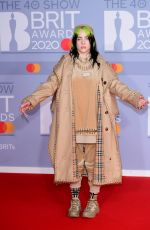 Billie Eilish At The BRIT Awards 2020 in London