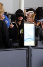 Blac Chyna Seen making her way through LAX airport