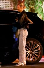 Brie Larson Leaving dinner at the San Vicente Bungalow in West Hollywood