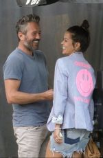 Brooke Burke and her boyfriend Scott Rigsby pack on the PDA after lunch date at Avra