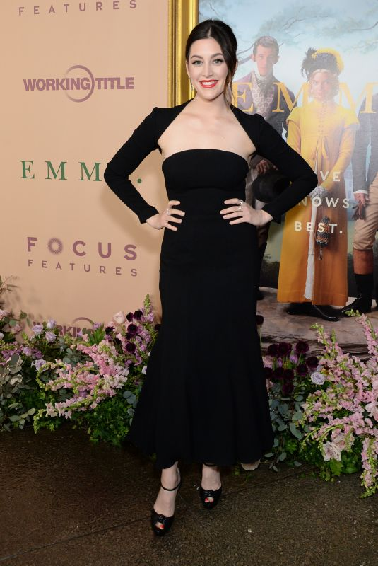 Caitlin McGee At Focus Features EMMA premiere, Los Angeles