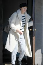 Caitriona Balfe and husband Tony McGill are spotted leaving a hotel in Los Angeles