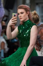 Camilla Kerslake At Atelier Zuhra Show during London Fashion Week AW20 at the Royal Opera House