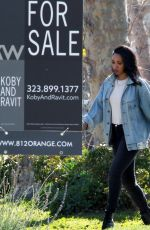 Candice Patton At house hunting in Hollywood