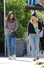 Cara Santana Hangs out with a friend for lunch at All Time in Los Feliz