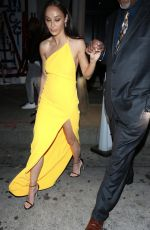 Cara Santana Stands out in yellow outside Craig