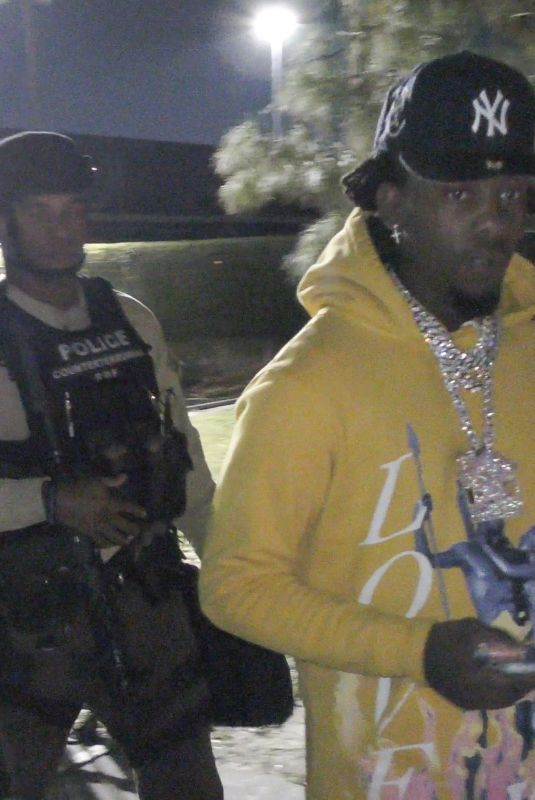 Cardi B Seen leaving the Hard Rock Stadium after the Super Bowl escorted by the police in Miami