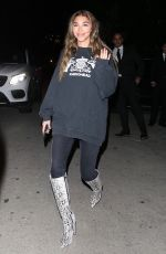 Chantel Jeffries All smiles while leaving a Valentine