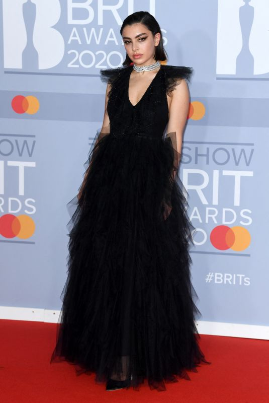 Charli XCX Arriving for the Brit Awards 2020 at the O2 Arena, London