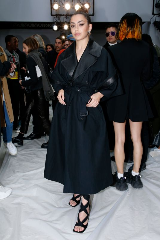 Charli XCX At JW Anderson show, Front Row, Fall Winter 2020, London Fashion Week, UK