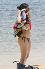 Charli XCX Cooling off at a Sydney beach in a bikini on her day off