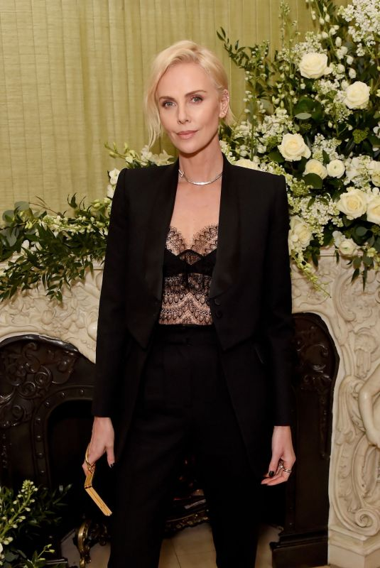 Charlize Theron At British Vogue and Tiffany & Co. Fashion and Film Party, London