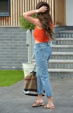 Charlotte Crosby Shows off new dark hair and slimmer figure while pictured in Newcastle