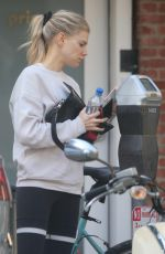 Charlotte McKinney Heading to a yoga class in Santa Monica