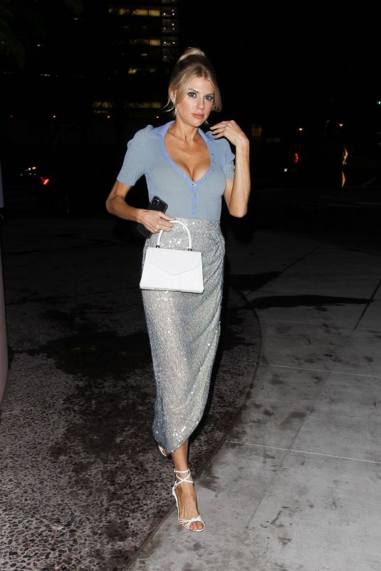Charlotte McKinney Leaving The Webster store opening in Beverly Hills
