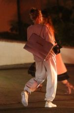 Charlotte McKinney Looks very casual in sweats after an Oscar party as she leaves the Sunset Marquis