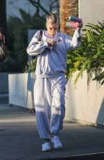 Charlotte McKinney Wears her most comfortable clothes while out on a juice run at Cha Cha Matcha in West Hollywood