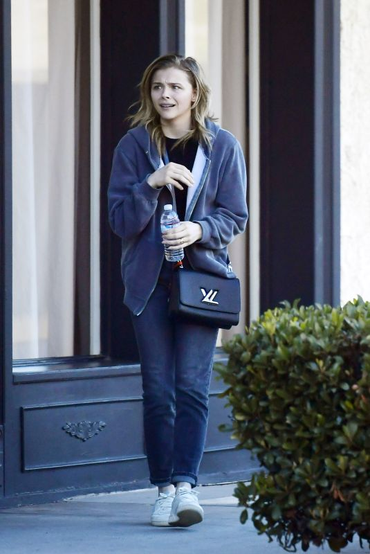 Chloë Grace Moretz Leaving a meeting in LA
