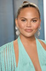 Chrissy Teigen At Vanity Fair Oscar Party in Los Angeles