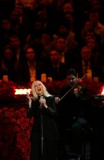 Christina Aguilera Performs at A Celebration of Life for Kobe and Gianna Bryant