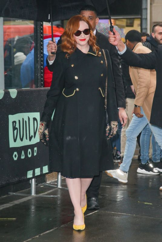 Christina Hendricks At Build Series while promoting her work