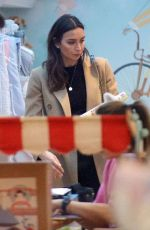 Christine Lampard Has her hands full as she goes nursery shopping