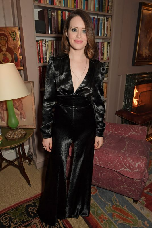 Claire Foy At Charles Finch and Chanel Pre-BAFTA Party London