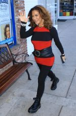Claudia Wells Outside her store Armani Wells in Studio City