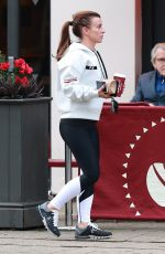 Coleen Rooney Stops off at Costa Coffee after a gym session in Cheshire