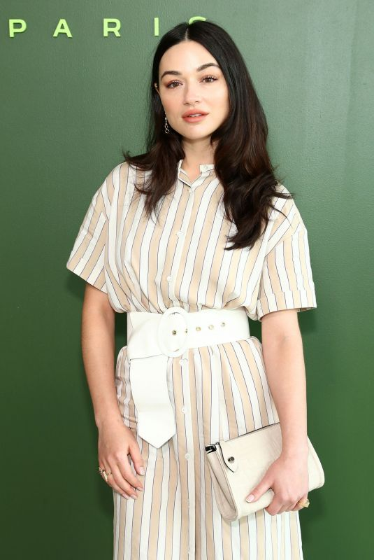 Crystal Reed At Longchamp show at New York Fashion Week